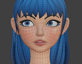 VR / AR ready Stylized Female Character Gaming Asset