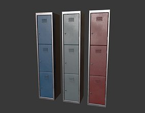 Lockers 3D model realtime