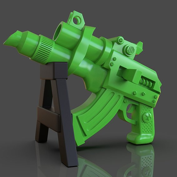 Stylized Scifi Pistol Sculpture