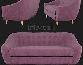 3D model laudia 3-Seater Fabric Sofa Littlewoods