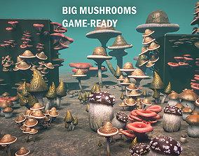 Big mushrooms 3D asset