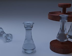 3D Bottle of Brandy with Holders
