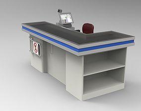 3D model Supermarket cash register