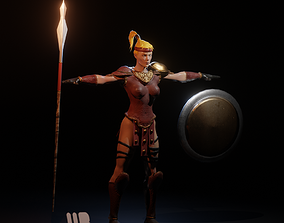 3D model The Amazon from Diablo 2