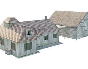 3D asset realtime Old House home
