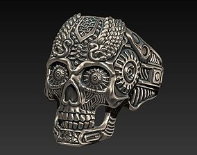 3D print model thomas wittelsbahc skull ring style