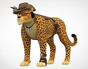 3D model game-ready TF2 Sniper Leopard