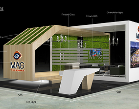 3d Exhibition Stand Booth 9x6m