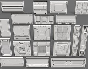 3D model Sci-Fi Panels - 20 pieces - Collection - 2