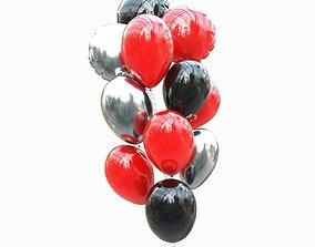 Set helium balloons 3D