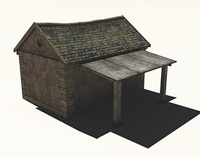 Small Stone Cottage 3D model