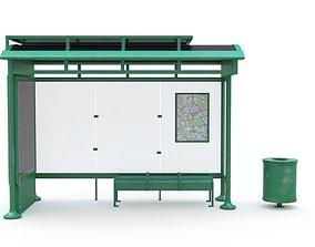 Bus Stop 04 3D model