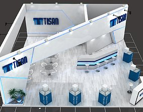 3D model Tisan Stall Size 10 m x 10 m Height 366 cm