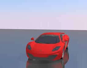 McLaren MP4-12C 3D asset rigged