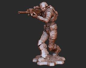 UIR Female Soldier Gears of War 3D Model STL File 3D
