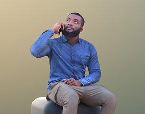 Gabriel 10633 - Black Man Sitting Talking On 3D model