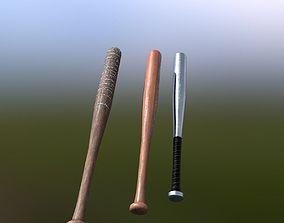 3D model Baseball Bats 3 Pack