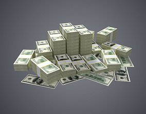 3D asset 100 Dollar Bills Packs