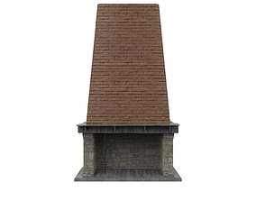 Brick Fireplace 3D asset realtime