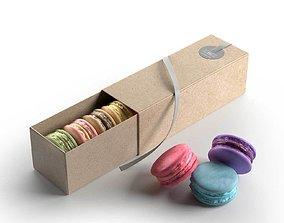 Macarons Gift Box 3D