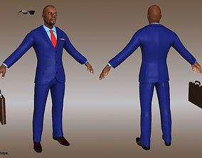 3D model game-ready Businessman