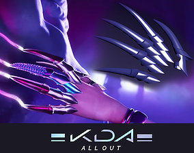KDA MORE Evelynns Claws articulated finger 3D print model