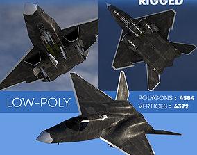 3D model YF-23A BLACK-WIDOW-II Rigged