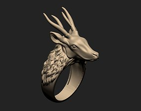 Deer Ring animal-skeleton 3D print model
