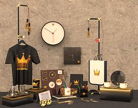 3D Promotion Products Collection Scene coffee