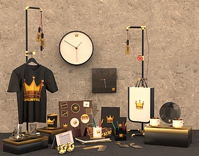 3D Promotion Products Collection Scene