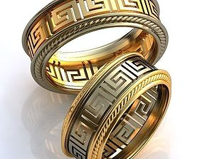 fashion-accessory 3D print model Gold Metal Rings
