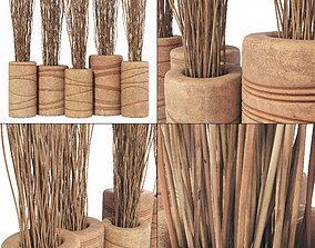 3D model Branch thin planter clay vase n1