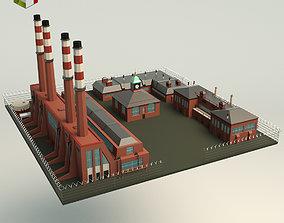 3D model Low Poly Factory Site