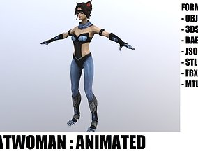 3D model animated Catwoman