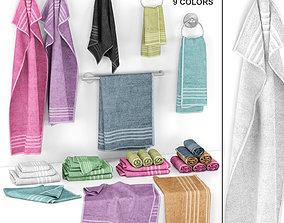 3D Towels Set with 9 Colors