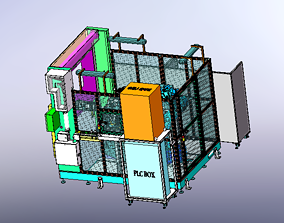 Six axis manipulator processing center 3D model