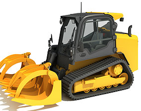 3D model Log Fork Mini Skid Steer Loader