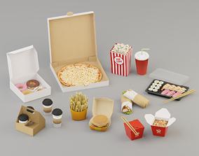 Takeaway Fast Food High G43 3D asset