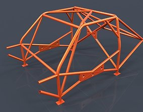 Roll cage-race car frame 3D model birdcage