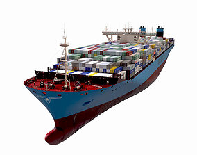 Maersk Triple E 1st generation Containers 3D model