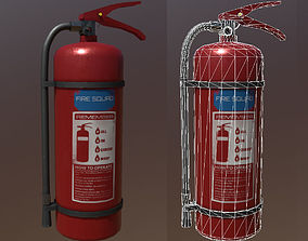 Fire Extinguisher 3D model game-ready PBR