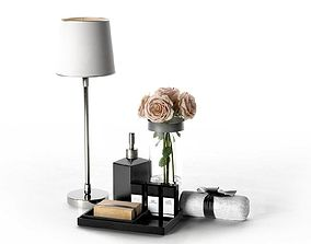 3D Table Lamp Rose Bouquet Perfumes and Towel perfume