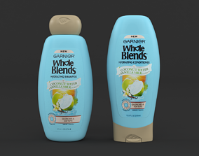 3D model Garnier Whole Blends Shampoo and Conditioner