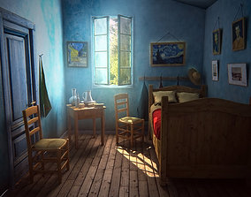 3D model van Gogh bedroom