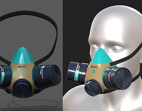 Gas mask helmet scifi futuristic respirator 3D model