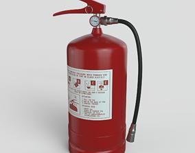 3D model emergency Fire Extinguisher