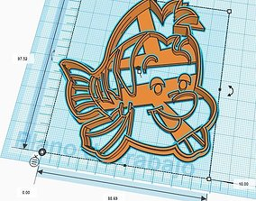 3D printable model The Little Mermaid Flounder Cookie