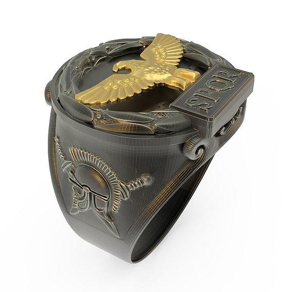 Ring Roman Eagle 3D print model