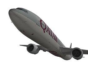 3D model Boeing 777-300ER Qatar Airways