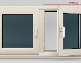 Plastic casement window 02 3D